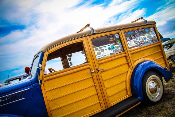 Ford Woodie Wagon 1937 Fine Art Print or Canvas Gallery Wrap