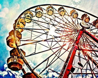 Ferris Wheel Fine Art Print or Canvas Gallery Wrap
