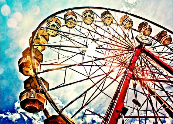 Ferris Wheel Fine Art Print or Canvas Gallery Wrap