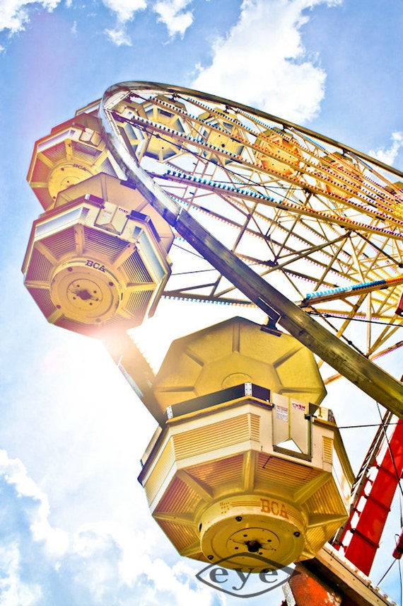 Under the Ferris Wheel Fine Art Print or Canvas Gallery Wrap