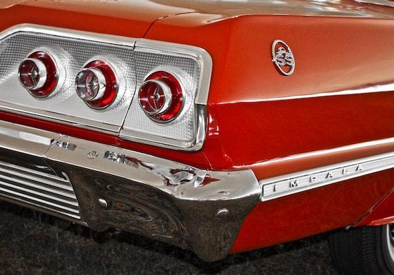 Chevrolet Impala Car 1963 Fine Art Print or Canvas Gallery Wrap