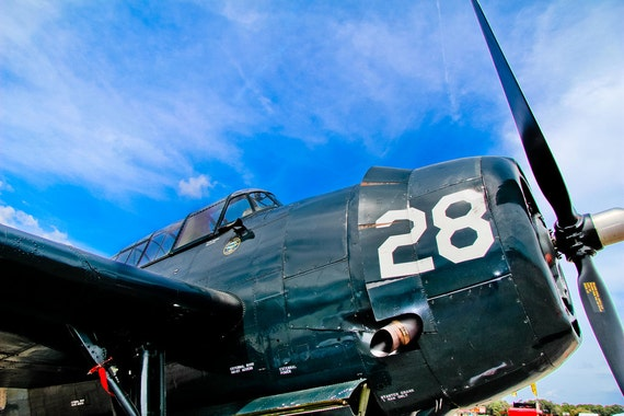 Grumman TBF Avenger Airplane Fine Art Print or Canvas Gallery Wrap