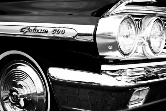 1964 Ford Galaxie 500 Car Fine Art Print or Canvas Gallery Wrap