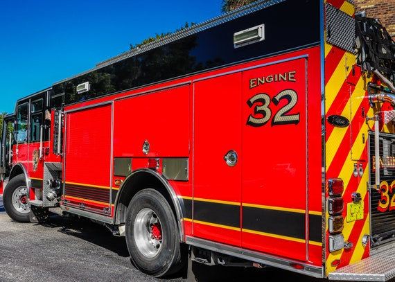 Fire Engine 32 Firetruck Fine Art Print or Canvas Gallery Wrap
