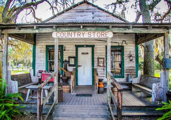 Ye Olde Country Store Fine Art Print or Canvas Gallery Wrap
