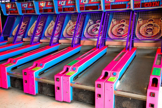 Skeeball Arcade Game 1 Fine Art Print or Canvas Gallery Wrap
