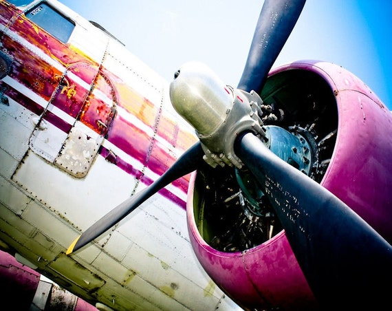 C-160 Transport Airplane Propeller Fine Art Print or Canvas Gallery Wrap