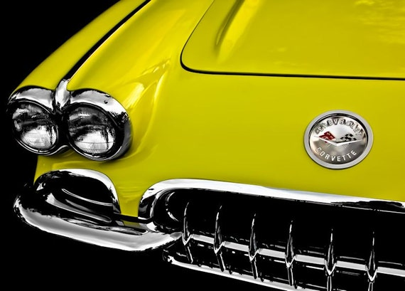 Chevrolet Corvette Car 1958 Fine Art Print or Canvas Gallery Wrap