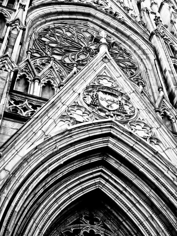 New York St. Patrick Cathedral Church in Black & White Fine Art Print or Canvas Gallery Wrap