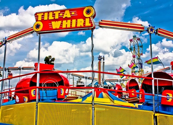 Tilt-A-Whirl Carnival Ride Fine Art Print or Canvas Gallery Wrap