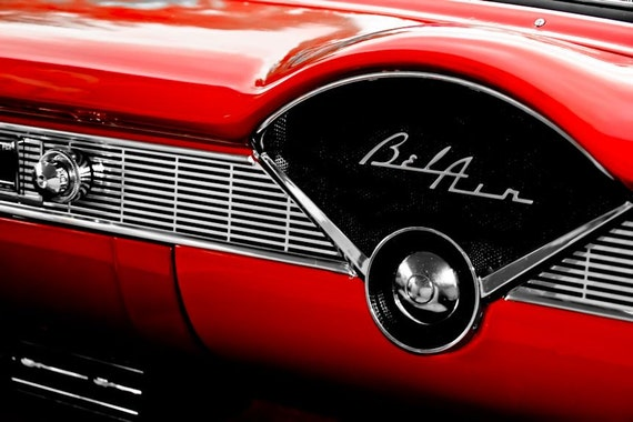 Chevrolet Bel Air Dash Radio FCar Fine Art Print or Canvas Gallery Wrap