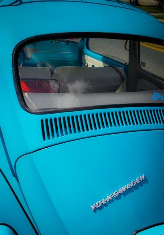 1966 Volkswagen Beetle Car Photography, Automotive, Auto Dealer, Muscle, Sports Car, VW, Mechanic, Boys Room, Garage, Dealership Art