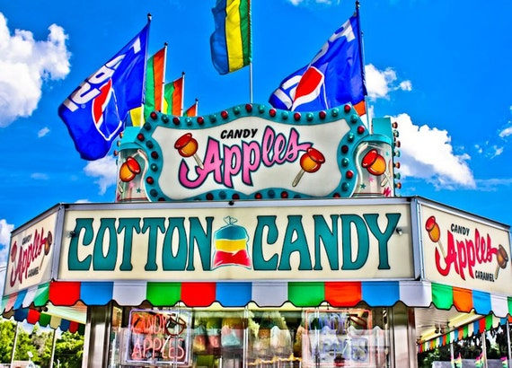 Candy Apple Sweet Carnival Food Vendor Fine Art Print or Canvas Gallery Wrap