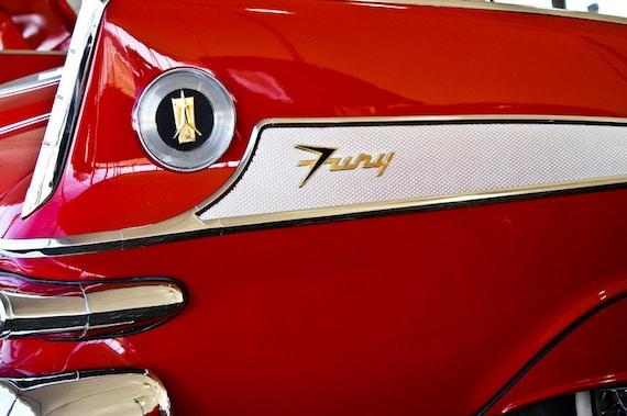 Chrysler Plymouth Fury Car 1958 Fine Art Print or Canvas Gallery Wrap