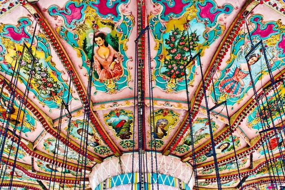 Victorian Carnival Swings in Detail Fine Art Print or Canvas Gallery Wrap