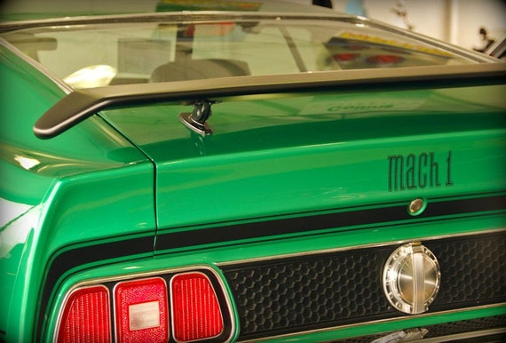 1971 Ford Mustang Mach 1 Fastback Car Fine Art Print or Canvas Gallery Wrap