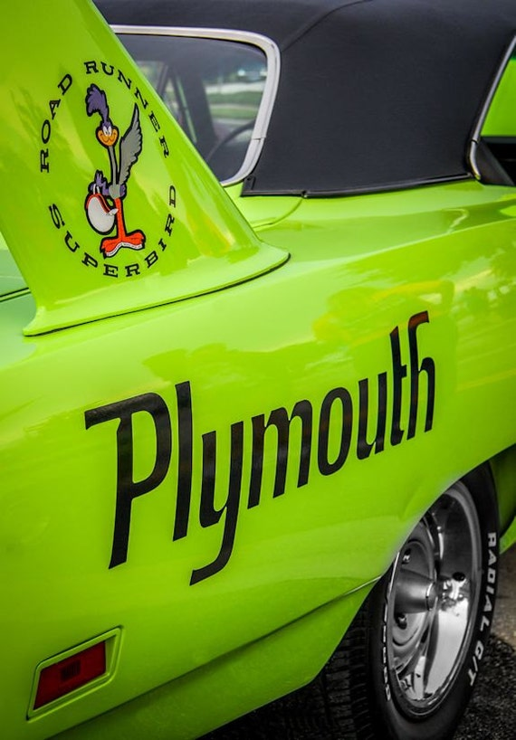 Plymouth Road Runner Superbird Car Fine Art Print or Canvas Gallery Wrap