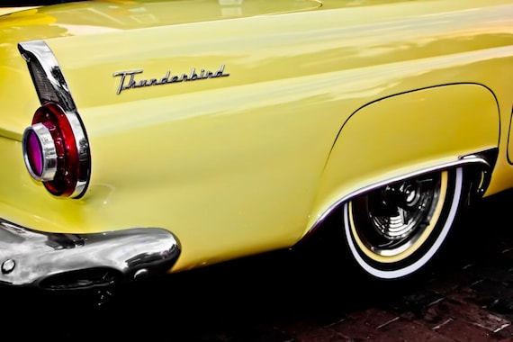 Ford Thunderbird Fin Car Fine Art Print or Canvas Gallery Wrap