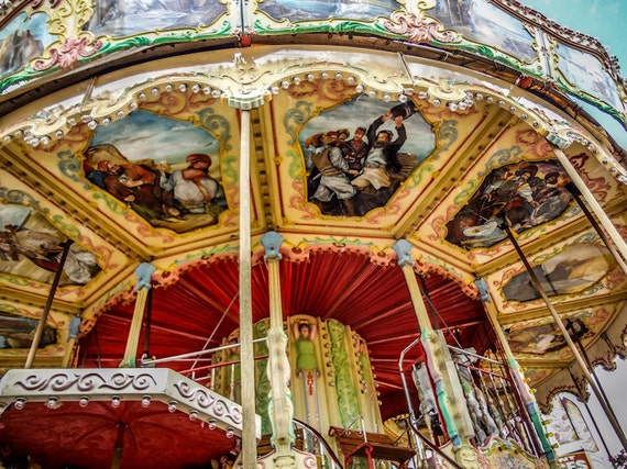 Carnival Carousel Baroque Style Fine Art Print or Canvas Gallery Wrap