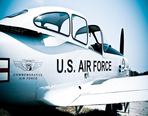 Vintage US Air Force (USAF) Military Airplane Fine Art Print or Canvas Gallery Wrap