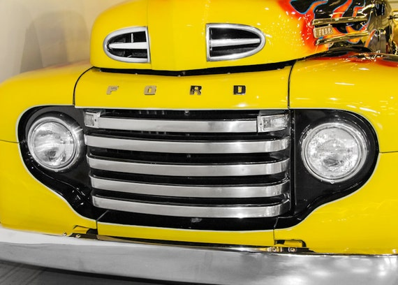 Ford F100 Pickup Truck 1948 Fine Art Print or Canvas Gallery Wrap