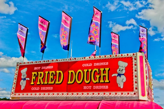 Fried Dough Carnival Food Vendor Fine Art Print or Canvas Gallery Wrap