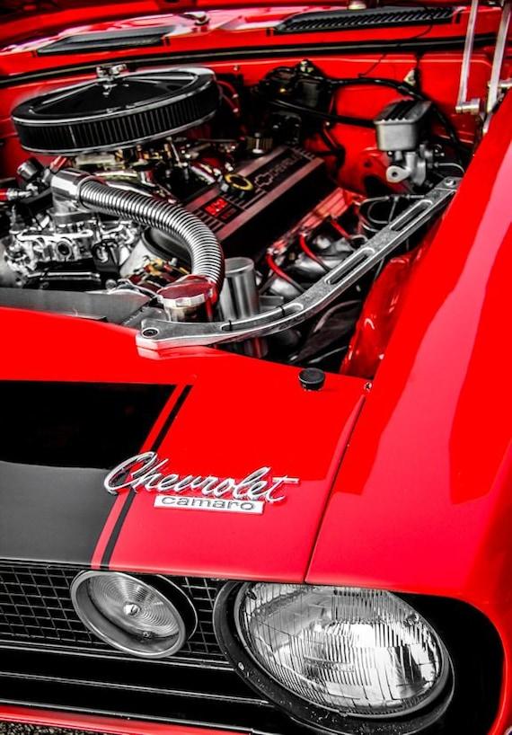 Chevrolet Camaro Engine Fine Art Print or Canvas Gallery Wrap