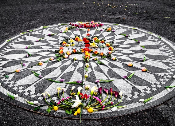 Strawberry Fields John Lennon Mosaic Central Park Fine Art Print or Canvas Gallery Wrap