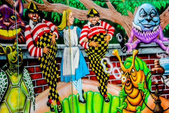 Alice in Wonderland Carnival Artwork Fine Art Print or Canvas Gallery Wrap