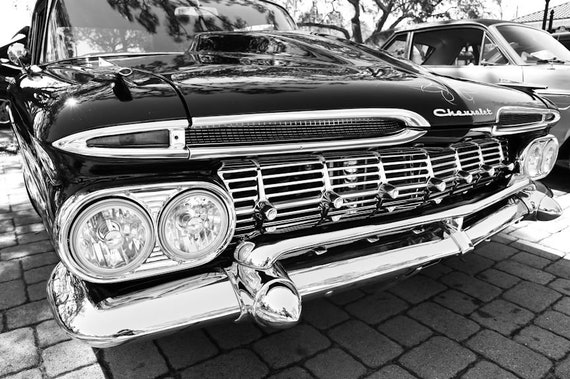 1959 Chevrolet Biscayne Car Fine Art Print or Canvas Gallery Wrap