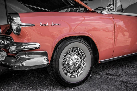 Dodge Royal Lancer Car 1955 Fine Art Print or Canvas Gallery Wrap