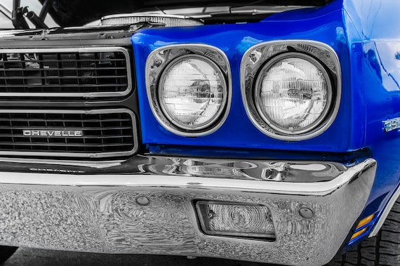 1970  Chevrolet Chevelle Malibu Car Fine Art Print or Canvas Gallery Wrap
