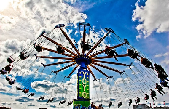 Yoyo Carnival Swings Ride Fine Art Print or Canvas Gallery Wrap
