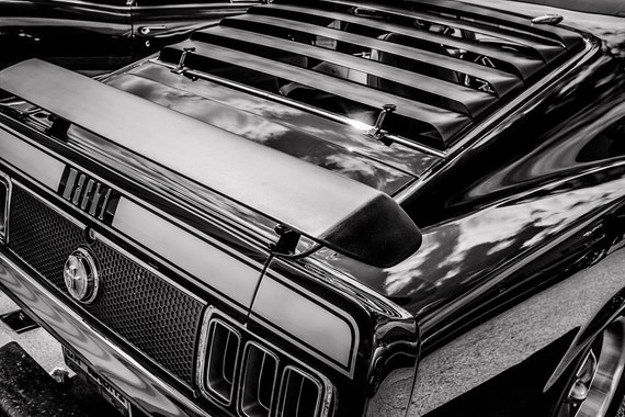 1970 Ford Mustang Mach 1 Car Fine Art Print or Canvas Gallery Wrap