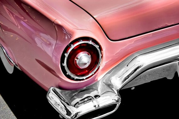 Ford Thunderbird PINK Car Fine Art Print or Canvas Gallery Wrap