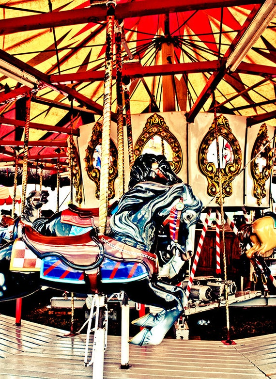 Carousel Carnival Horse Merry-Go-Round Fine Art Print or Canvas Gallery Wrap