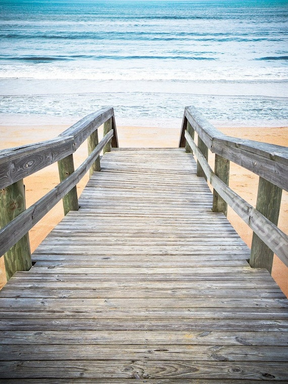 Beach Walkway to Ocean Fine Art Print or Canvas Gallery Wrap