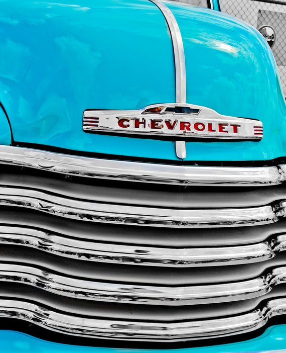 1947  Chevrolet Pickup Truck Car Fine Art Print or Canvas Gallery Wrap