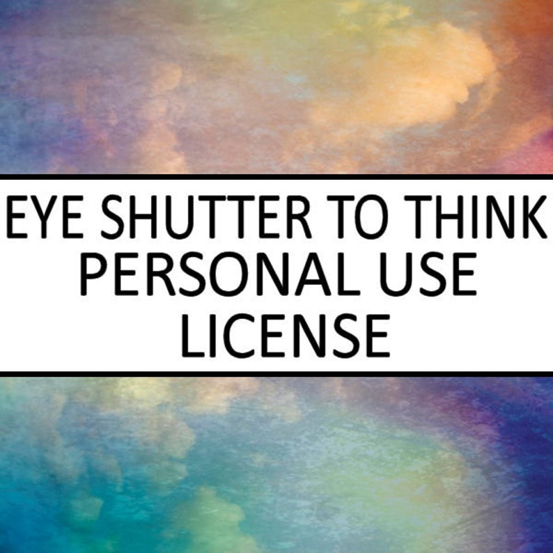Personal Use License  Legal Agreement  Eye Shutter to Think image 0
