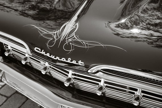 1959 Chevrolet Biscayne Lettering Fine Art Print or Canvas Gallery Wrap