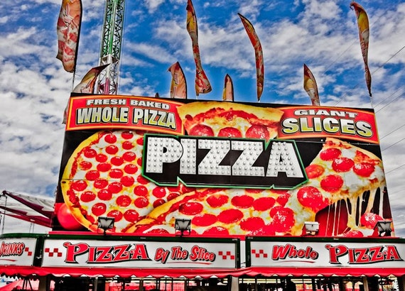 Pizza Carnival Vendor Fine Art Print or Canvas Gallery Wrap