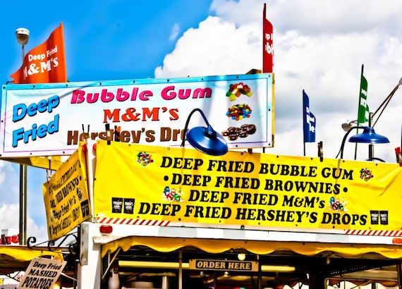 Deep Fried Everything Carnival Fair Food Fine Art Print or Canvas Gallery Wrap