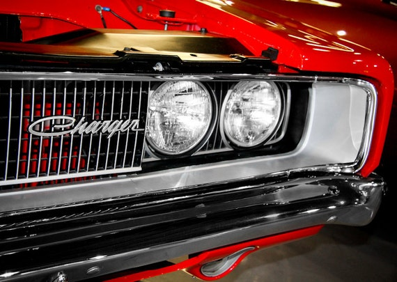 Dodge Charger Car 1968 Fine Art Print or Canvas Gallery Wrap