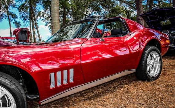 1969 Chevrolet Corvette Stingray Car Fine Art Print or Canvas Gallery Wrap