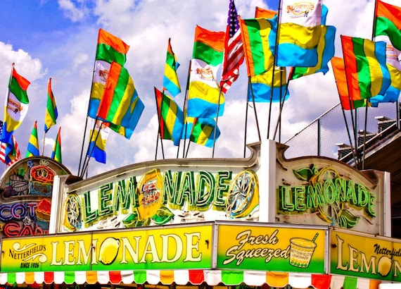 Carnival Lemonade Stand Fine Art Print or Canvas Gallery Wrap