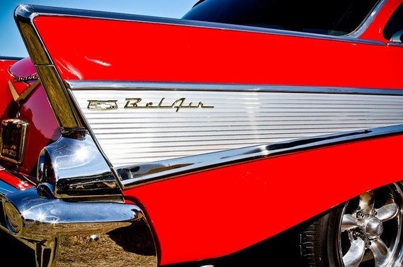 1957 Chevrolet Bel Air Car Fine Art Print or Canvas Gallery Wrap