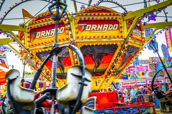 Tornado Carnival Ride Fine Art Print or Canvas Gallery Wrap
