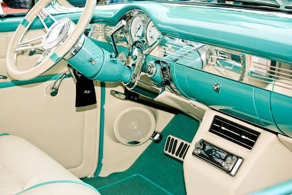 Chevrolet Bel Air Interior Car Fine Art Print or Canvas Gallery Wrap