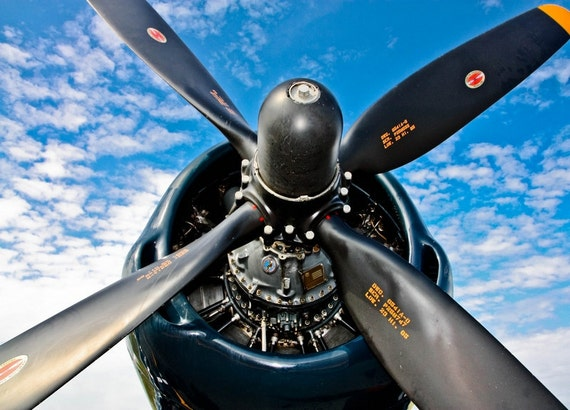 VC3 Airplane Propeller Fine Art Print or Canvas Gallery Wrap