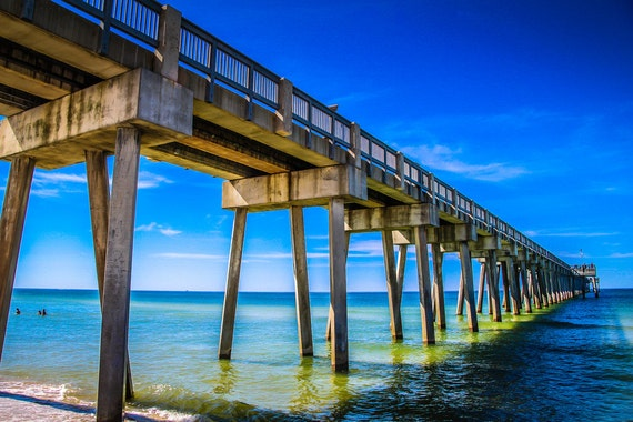 Panama City Beach Pier Fine Art Print or Canvas Gallery Wrap